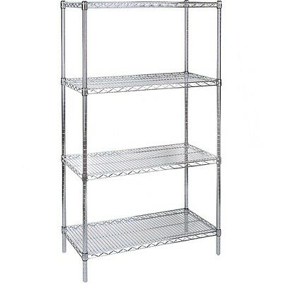 "4 Shelves Chromate Wire Shelving Storage Shelving 30"" x 14"" x 63"""