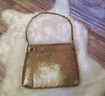 Vintage Gold Mesh Purse With Chain Strap