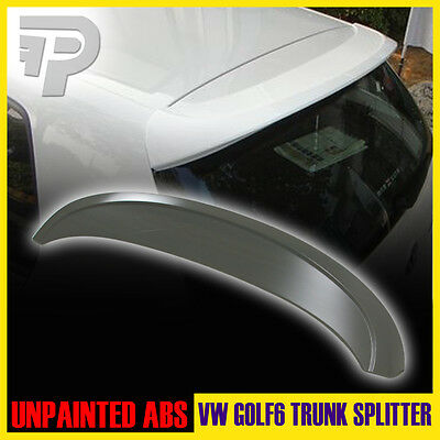 Unpaint FOR Volkswagen VW Golf 6 MK6 VI ABT Rear Trunk Lip Spoiler Wing ▼