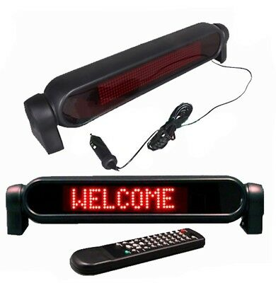 New! Countertop Indoor Red LED Programmable Display + Wireless Remote AC & DC