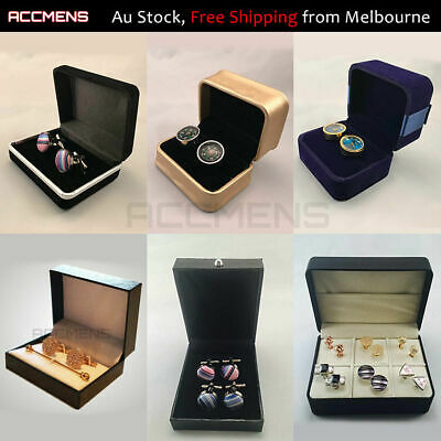 Vintage Jewellry Storage Box Ring Tie Clip Cufflinks Jewelry Display Gift Case