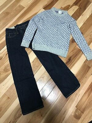 Boys Abercrombie Jeans And Crewcuts Sweater Sz 8-10 Awesome!