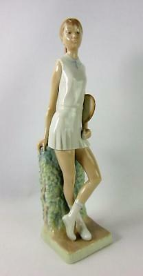Lladro Porcelain Figurine Glossy Girl Tennis Player #4798 No Box Free Shipping