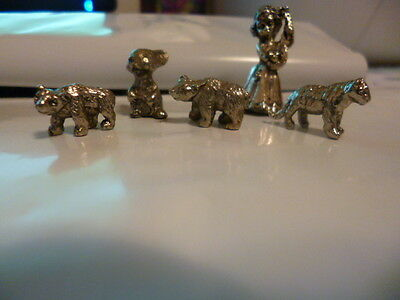 pewter tiger ,Bear Mouse ,girl  very small