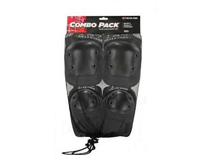 NEW 187 Adult Combo Pack Black (Knee & Elbow)