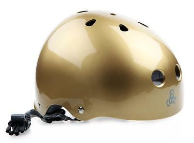 NEW Triple 8 Brainsaver Helmet Gold Gloss