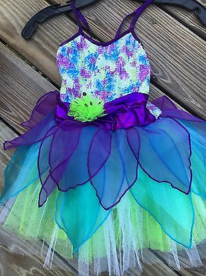 Dance Costume Girl Child Tinker Bell Sequin Jazz Tap Solo Competition Pageant