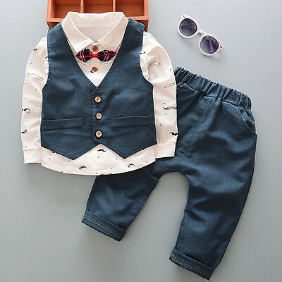 3PC Kids Baby Boys Clothes Outfit Boy Infant Party Suits Clothing Outfits Sets