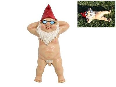 51Cm Nude Garden Gnome Large Huge - Funny Rude Naked Garden Gnome Laying Back