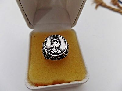 Collectible Armenian King Tigranes Coin Hand Carved Ring