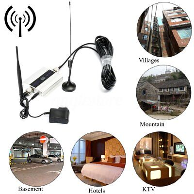 GSM 900MHz Mobile Cell Phone Signal Booster Repeater Amplifier Antenna US Plug R