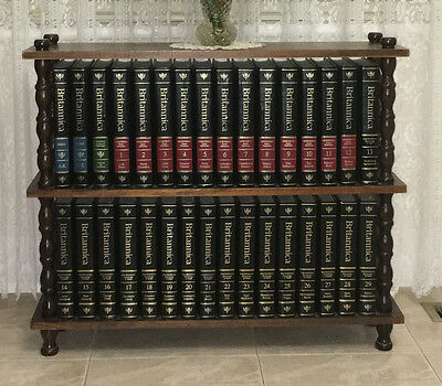 Encyclopedia Britannica Set with Stand + World Atlas & Yearly Books