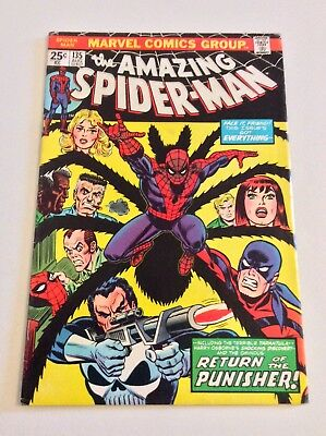 Amazing Spider-Man #135 Mvs Intact! (1974) 2Nd Punisher! Free Priority Shipping