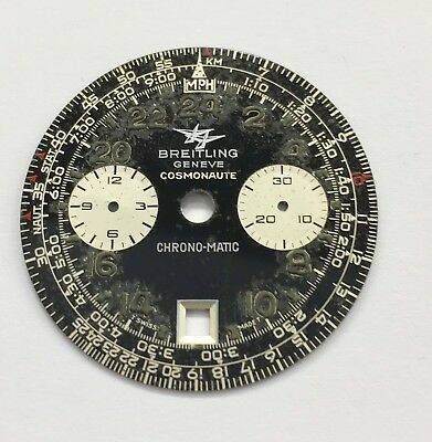Vintage Breitling Cosmonaut Chronograph-Matic 1809 Dial Hands Pushers & Crown