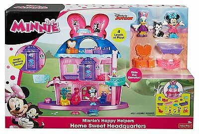 Girls Minnie Mouse Home Sweet Headquarters Dollhouse FisherPrice Disney Playset