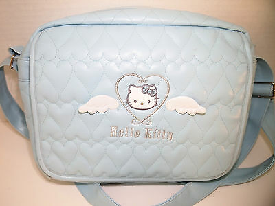 Hello Kitty Angel Wings Embroidered Heart Quilted Crossbody Messenger Bag