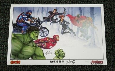 Very Rare Signed Numbered Avengers Ultron Siya Oum Film Exclusive Print 126/300