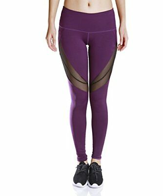 Women Sport Leggings Fitness Pant Running Tights Mesh Ankle Stretch Yoga Workout