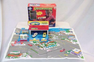 Road Tough Toy car service station set 1980s vintage #12761