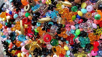 Kids Craft Bead Kit Over 800 Beads + 8 mtr Jewellery Line Threading Bulk Lot