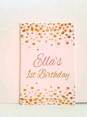 Confetti Guest Sign Message Cards,Birthday, Baptism, Baby Shower