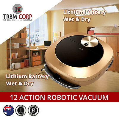 Robotic Vacuum  Cleaner Advanced Tech Mop & Dry Lithium Battery Schedule Remote