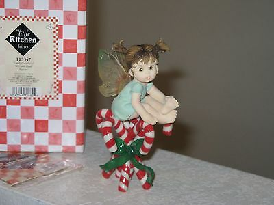 My Little Kitchen Fairies  Candy Cane  Christmas  Retired 2003  NIB  Peppermint