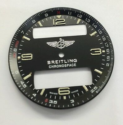 Genuine Breitling Chronospace Black Dial Dial-B123 For 56012 & Crown And Hands