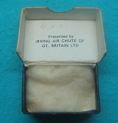 IRVING AIR CHUTE of Great BRITAIN Box ONLY for WWII CATERPILLER BADGE