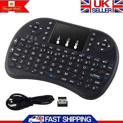 New 2.4Ghz New Mini Wireless Keyboard Fly Touchpad For Android Smart TV PC UK