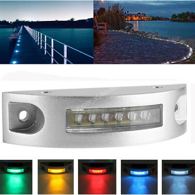Waterproof Solar LED Pathway Driveway Lights Dock Path Step Road Safety Markers