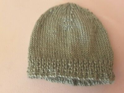 Newborn beanie/hat  - Hand Knitted - Colour - Sage