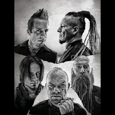 "019 FIVE FINGER DEATH PUNCH - Ivan Moody Metal Rock Band 24""x24"" Poster"