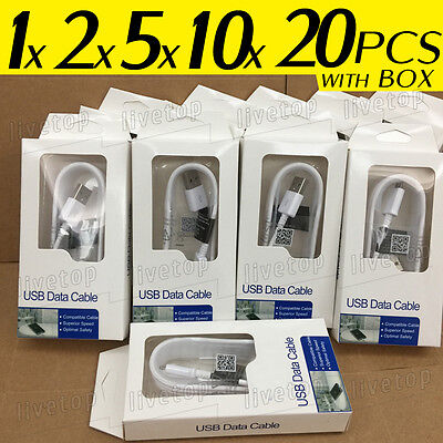Lot OEM Micro USB Fast Charging Charger Cable Cord Samsung Galaxy S6 S7 Note 4 5