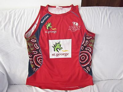 Qld Reds Indigenous Super Rugby Training Singlet Size Large