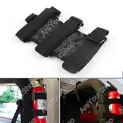 Black Car Auto Fixed Holder Fire Extinguisher For Jeep Wrangler TJ YJ JK CJ BS4