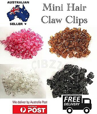 10x Mini Hair Claw Clips Small Plastic Clamps Girls Style Accessory Tool