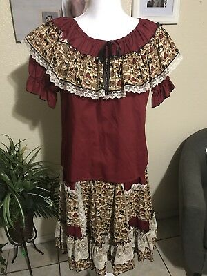 London Bridge Mondiki Older Top  And Skirt Square dance Woman's Outfit