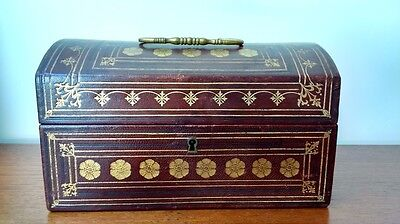 Arts and Crafts/Aesthetic Tooled Leather Bound Casket