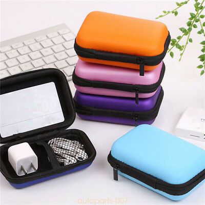Carrying Case Bag Storage Box EVA Hard for USB Cables Earphone MP3 Coin as07