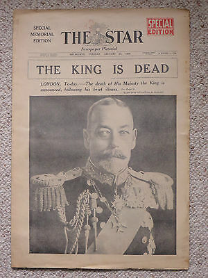 The Melbourne Star 21/1/36: Spl Edn: Death of King George V