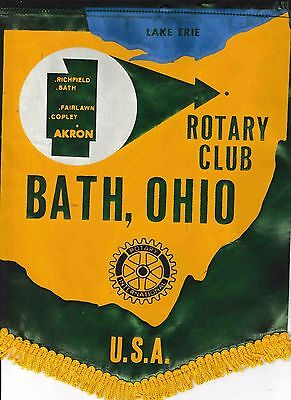 Fanion / Pennant : BATH.  OHIO.   U.S.A. * ROTARY  INTERNATIONAL *