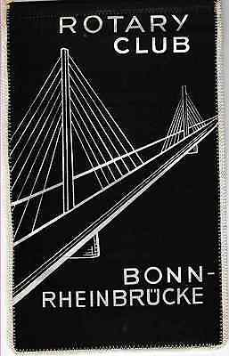 Fanion / Pennant : BONN-RHEIBRÜCKE. GERMANY.  * ROTARY CLUB INTERNATIONAL *