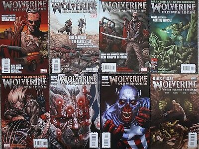 Wolverine Old Man Logan Run 8 comics #66-72 Giant Size #1 Complete VF-NM+ 1st Pr