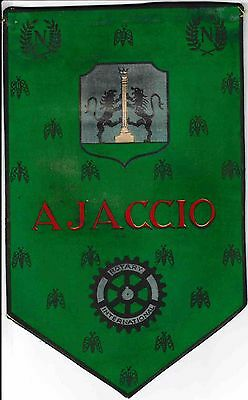 Fanion / Pennant : AJACCIO.   FRANCE.   * ROTARY CLUB INTERNATIONAL *