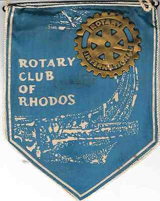 Fanion / Pennant :  RHODOS.  GREECE.   * ROTARY CLUB INTERNATIONAL *