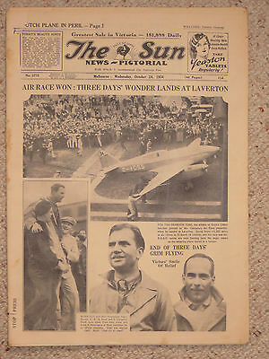 The Melbourne Sun 24/10/34: Centenary Air Race