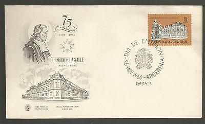 ARGENTINA - 1966 The 75th Anniversary of La Salle College, Buenos Air- FD COVER.