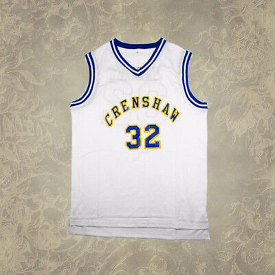 Love and Basketball Monica Wright #32 Crenshaw Basketball Jersey White Men