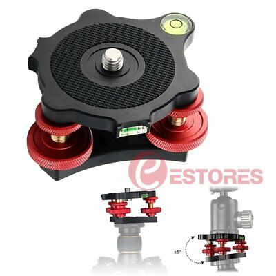 "LP-64 3/8"" Screw Tripod Leveling Base with 3 Adjustment Dials For Camera Tripod"